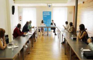 Encuentro entre concejales de Logroño y Vitoria