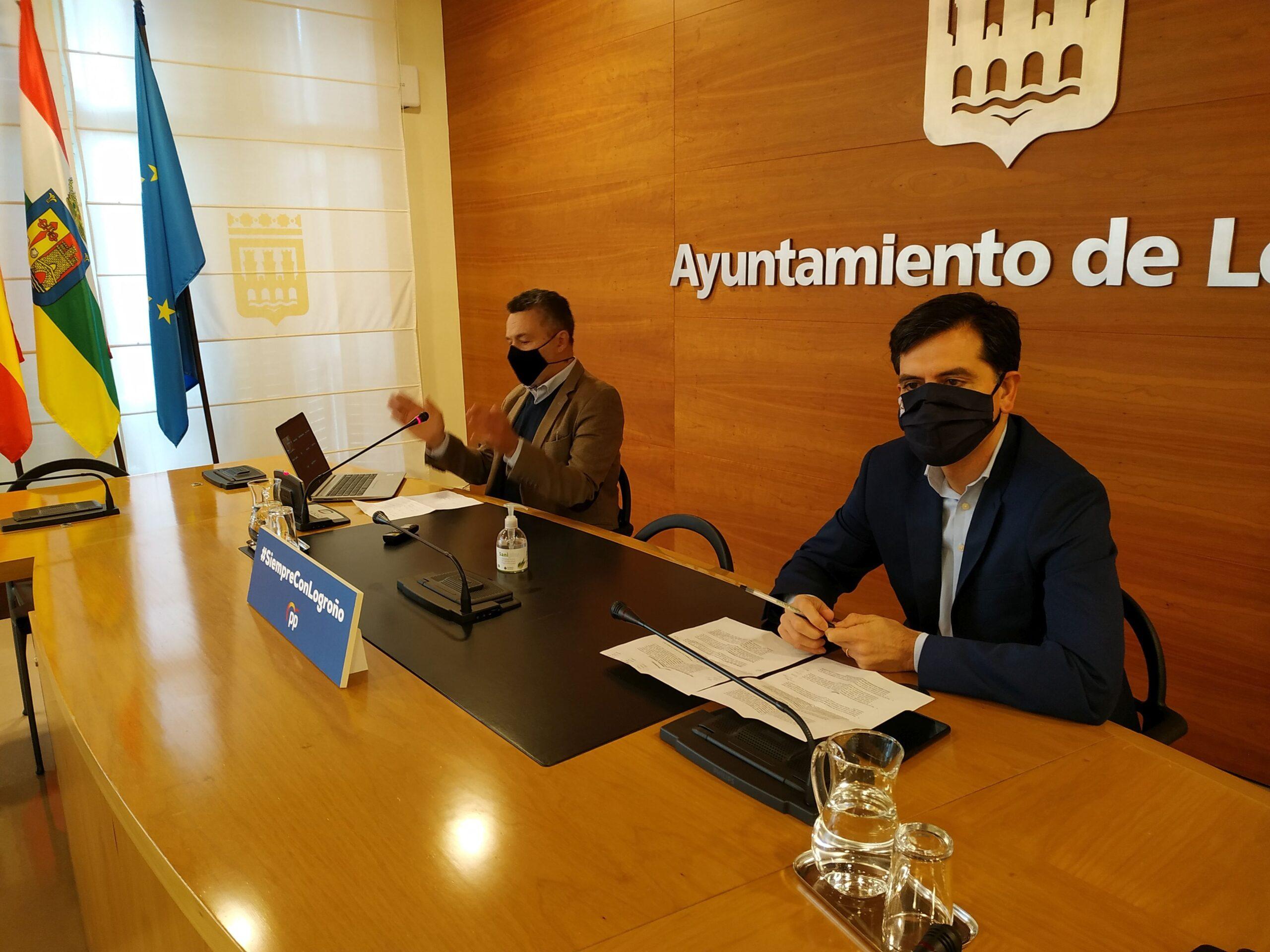 Los populares denuncian la desastrosa gestión de Hermoso de Mendoza en las subvenciones que perjudica al fútbol logroñés y a la ciudad al perder crédito institucional
